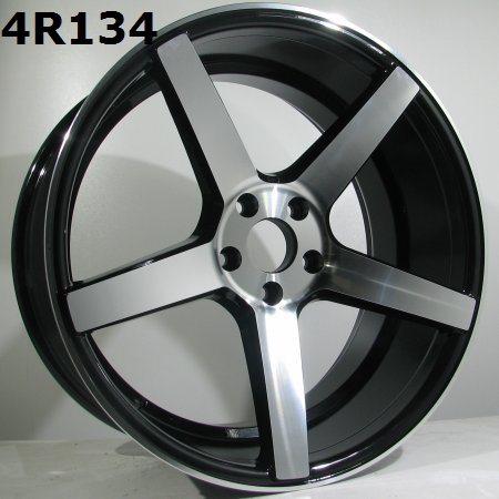 "18"" 4Racing 4R134 black front polished 8x18 BFM"
