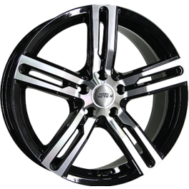 Inter Action kargin 16x6,5 shiny black polished front