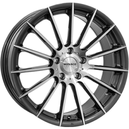 Monaco formula anthracite polished 18x8