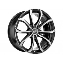 MSW 48 18x8 gloss black full polished