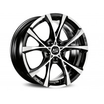 MSW Cross over 17x7,5 black full polished