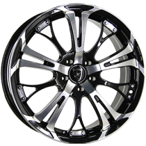 Inter Action poison 17x7 shiny black polished front