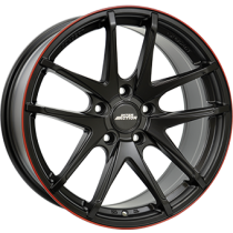 Inter Action red hot 16x7 matt black red line