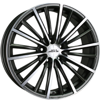Inter Action Velocity 5 holes 18x8 matt anthracite polished front