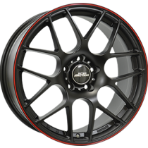 Inter Action universe 18x8,5 matt black red line