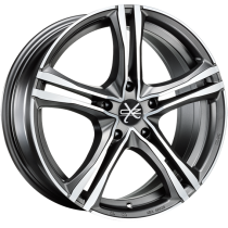 OZ X5B 18x8 Matt Graphite Diamond Cut