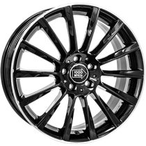 Mile Miglia black polished 18x8
