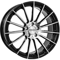 Monaco formula black polished 17x7,5