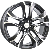 Monaco Beau Rivage 18x8 matt black polished front