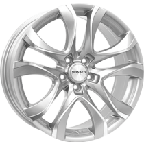 Monaco Beau Rivage 18x8 shiny light grey polished front