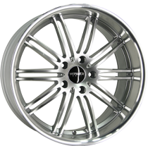 Monaco Chicane 19x8,5 hyper silver polished lip