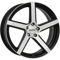 Dotz CP5 dark 17x7 black polished