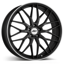 AEZ Crest dark 19x9 gunmetal matt polished lip