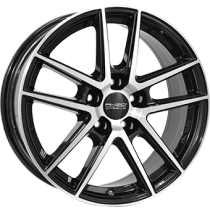 Anzio Split 5 spoke 18x8 black polished