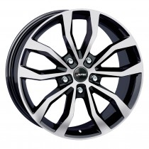 Autec Uteca 20x9 black polished