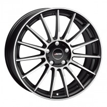 Autec Lamera 18x8 black matt polished