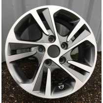 R Line HY5258 grey polished 15x6 5x114,3 ET45 67,1