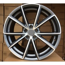 R Line ABK703 anthracite polished 20x9 5x112 ET33 66,5
