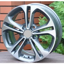 R Line HYBK766 grey polished 16x6,5 5x114,3 ET45 67,1