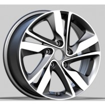 R Line BK813 grey polished 15x6 4x100 ET46 54,1