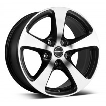 Borbet CC 17x8 black matt polished