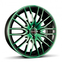 Borbet CW4 17x7 black green