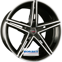Borbet XRS 19x8,5 black polished glossy
