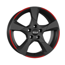 CMS C18 17x7,5 Matt Black Red
