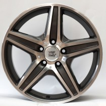 WSP Italy AMG Capri 18x8 5x112 ET34 66,6 anthracite polished