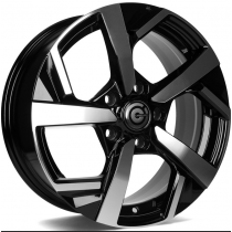 Carbonado Quincy 16x6,5 5x114,3 ET40 black front polished