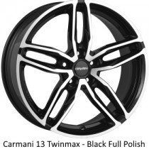 Carmani 13 Twinmax black polished 18x8