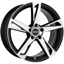 Carmani 16 Anton 18x8 black polished