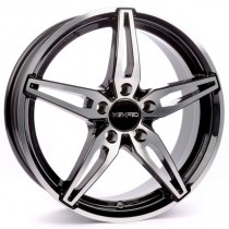 Carmani 15 Oskar 18x8,5 black polished