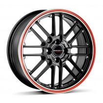 Borbet CW2 18x8,5 black red line