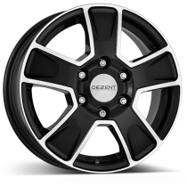 Dezent VAN black polished 16x6,5