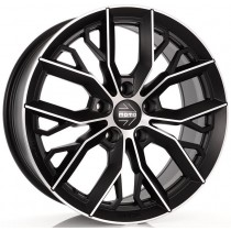 Momo Massimo 16x7 Black polished