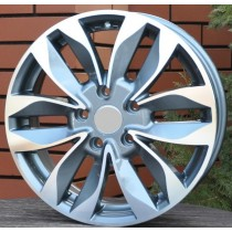 R Line SUDW606 grey polished 16x6 5x114,3 ET45 60,1