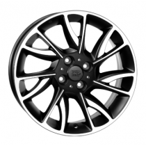 WSP Italy Este 15x6 4x98 ET30 58,1 black polished