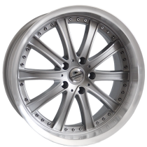 Forzza Code 19x8,5 5x120 ET30 72,6 silver / polished lip