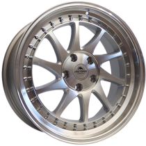 Forzza Space 17x8 5x114,3 ET35 73,1 silver polished