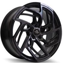 Forzza Turbo 19x8,5 5x112 ET42 66,6 black magic polished