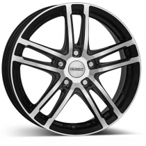 Dezent TZ dark black polished 19x8