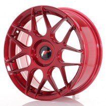 Japan Racing JR18 17x7 blank platin red