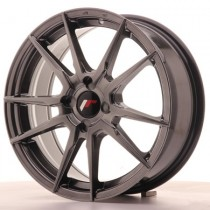 Japan Racing JR21 17x8 Blank hyper black