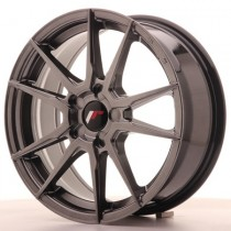 Japan Racing JR21 17x7 Blank hyper black