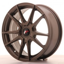 Japan Racing JR21 17x8 Blank matt bronze