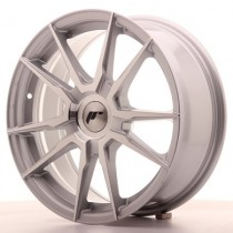 Japan Racing JR21 17x8 Blank silver machined