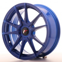 Japan Racing JR21 17x7 blank blue