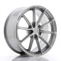 Japan Racing JR37 20x10 blank silver machined face