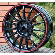 Racing Line RLM31 black with red line 16x6,5 5x114,3 ET40 73,1